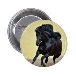 Running black stallion button