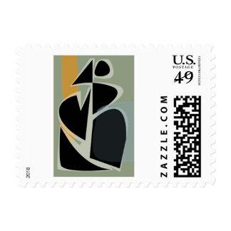 Running Blob Mid-century abstract inspired postage