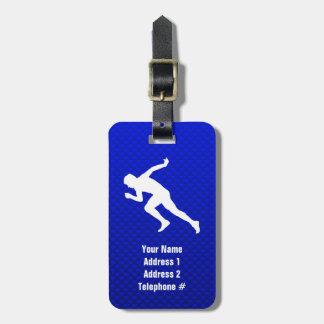 Running; Blue Bag Tag