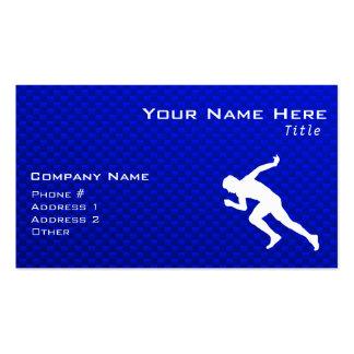 Running Blue Business Card Templates
