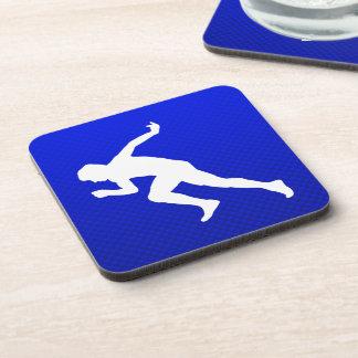 Running; Blue Drink Coaster