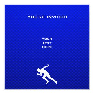 Running; Blue Invitation