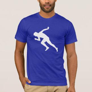 Running; Blue T-Shirt