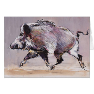 Running boar 1999 card