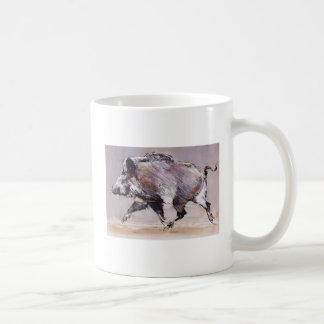 Running boar 1999 coffee mug