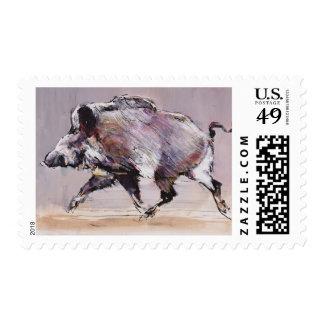 Running boar 1999 postage stamp