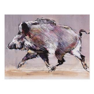 Running boar 1999 postcard