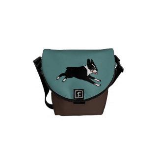 Running Boston Terrier Courier Bag