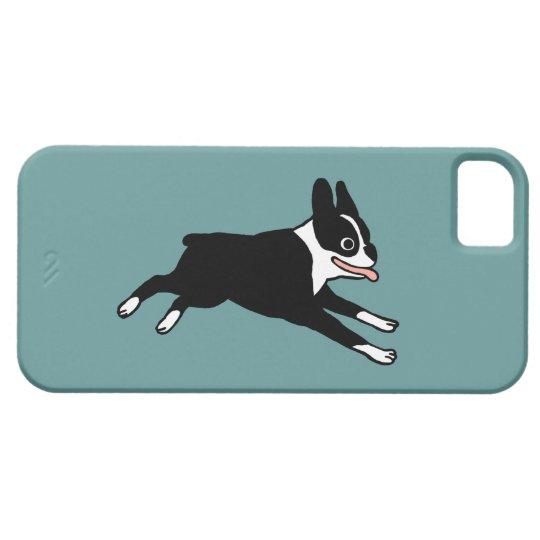 Running Boston Terrier - Customizable Color iPhone SE/5/5s Case