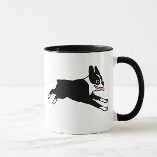 Running Boston Terrier Mug
