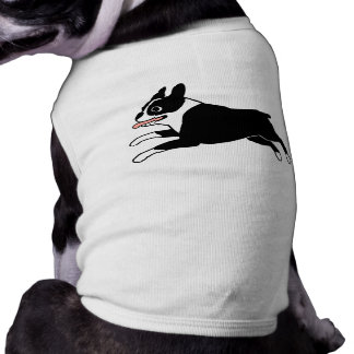 Running Boston Terrier Tee