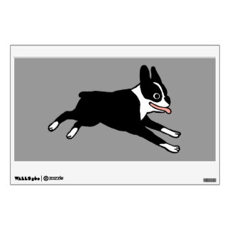 Running Boston Terrier Wall Sticker