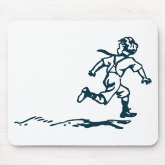 Running Boy Mouse Pad