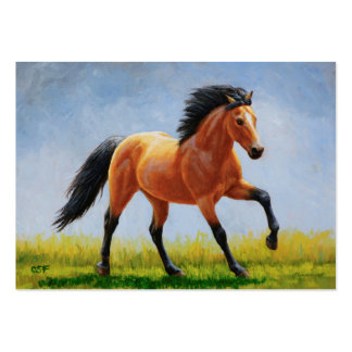 Running Buckskin Horse Large Business Cards (Pack Of 100)