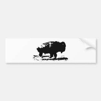 Running Buffalo Bison Pop Art Bumper Sticker