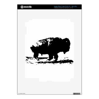 Running Buffalo Bison Pop Art Decals For iPad 3