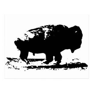 Running Buffalo Bison Pop Art Postcard