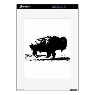 Running Buffalo Bison Pop Art Skin For The iPad