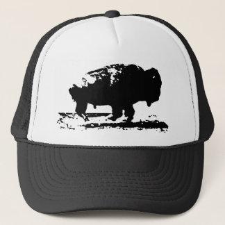 Running Buffalo Bison Pop Art Trucker Hat
