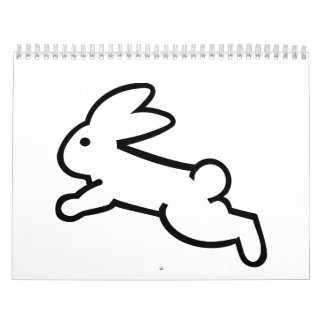 Running bunny rabbit calendar