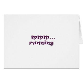 running greeting card