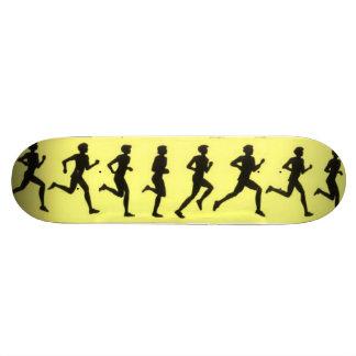 Running Cartoon Art Skateboard