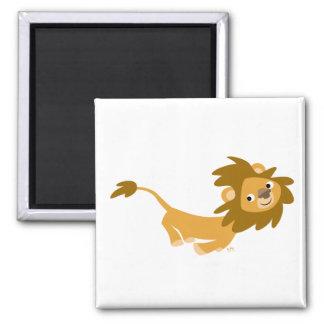Running Cartoon Lion magnet