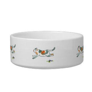 Running Cat Kitty Food Bowl