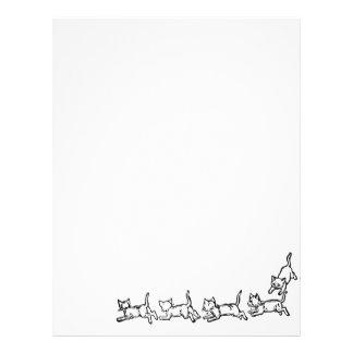 Running cats letterhead