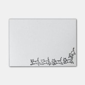 Running cats post-it notes