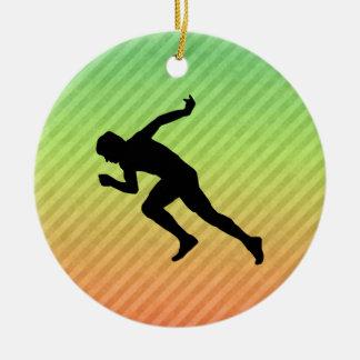 Running Ceramic Ornament
