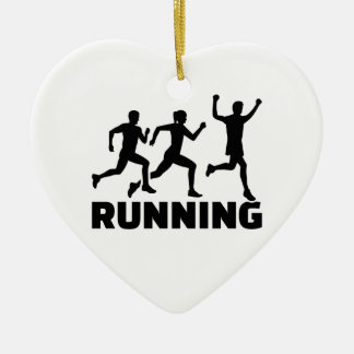 Running champion ceramic ornament