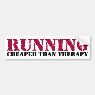 Running - Cheaper than therapy Car Bumper Sticker