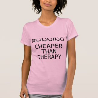 Running Cheaper Than Therapy Fitted Racerback Tank