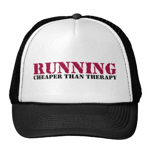 Running - Cheaper than therapy Trucker Hats