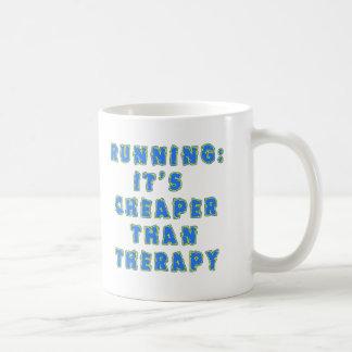 RUNNING:  CHEAPER THAN THERAPY Tshirts Coffee Mug