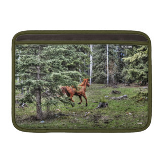 Running Chestnut Dun Horse and Forest Photo MacBook Air Sleeve