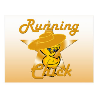 Running Chick #10 Postcard
