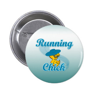 Running Chick #3 Pinback Button