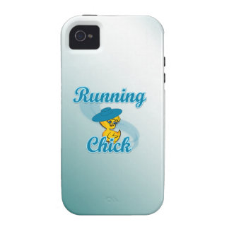 Running Chick #3 Vibe iPhone 4 Cover