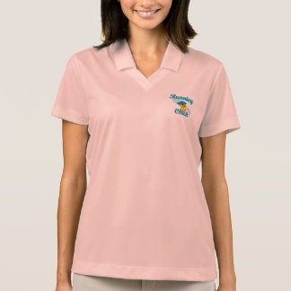 Running Chick #3 Polo T-shirts