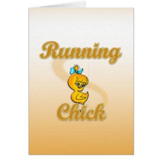 Running Chick Greeting Card