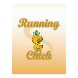 Running Chick Post Card
