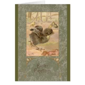 Running Chick Vintage Easter Card