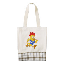 Running chick zazzle HEART tote bag