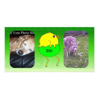 Running chicken personalized photo card
