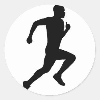 Running Classic Round Sticker