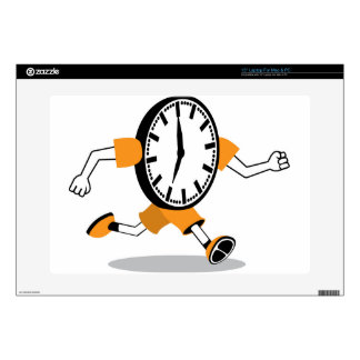 "Running Clock 15"" Laptop Decals"