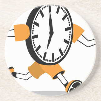 Running Clock Beverage Coasters