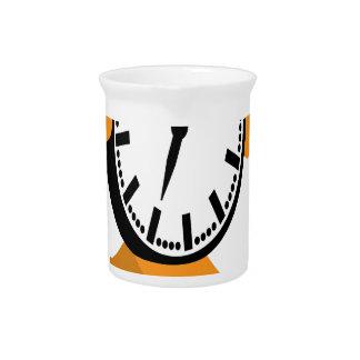 Running Clock Beverage Pitcher